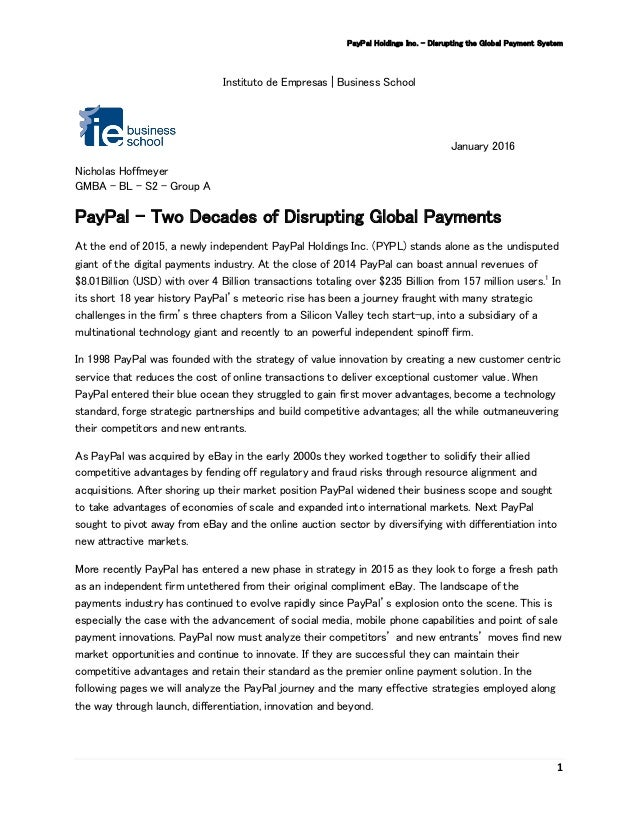 PayPal.com's Business Model