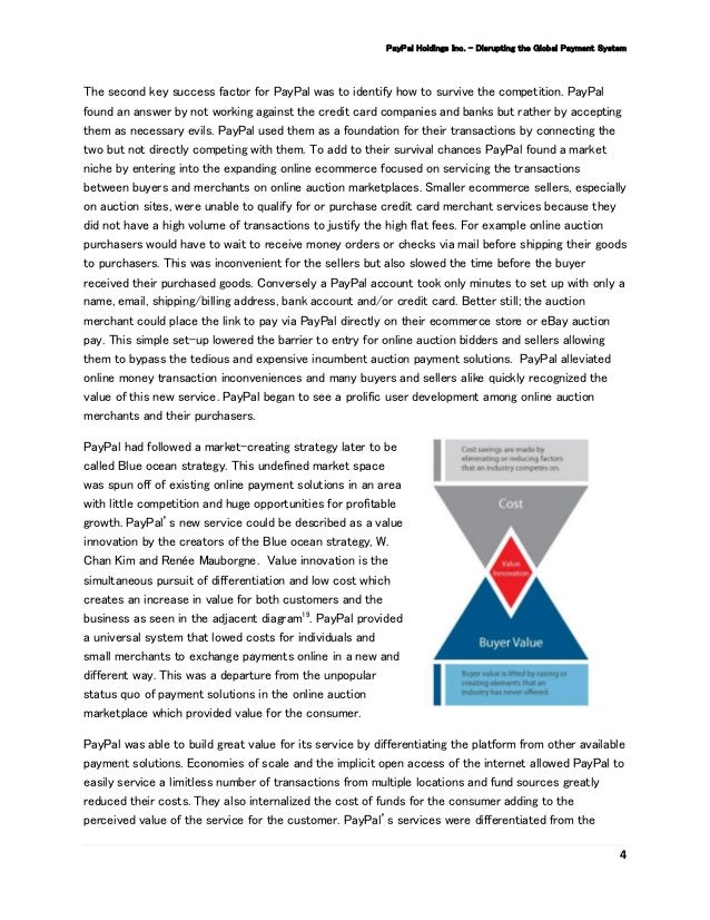 paypal case study Free essay: case study: paypal – going global all languages at a time 1 one of the challenges that paypal faces now.