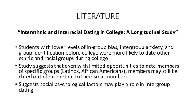 attitudes of college students toward interracial dating