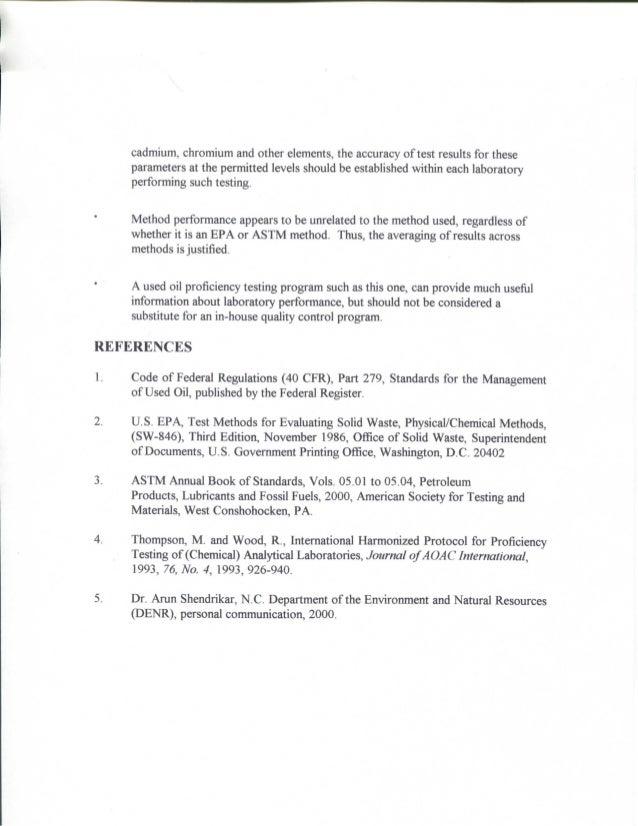 Oil PT Testing Program Paper