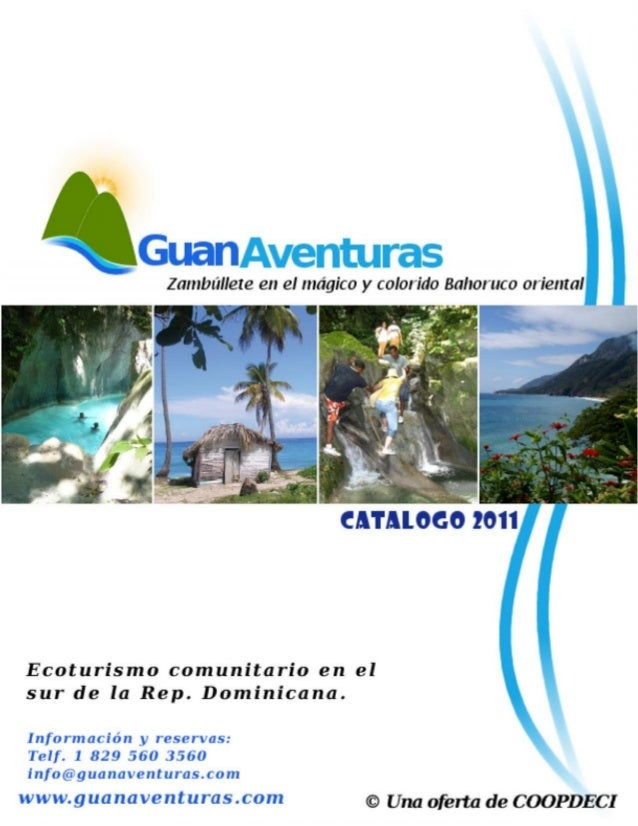 Catalogo de Oferta Ecoturismo Comunitario  Guanventuras, cooperativa de mujeres de la Ciénaga  Barahona, Republica Dominicana