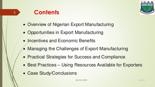 EXPORT MANUFACTURING- a  strategic imperative for Nigeria.pptx Slide 3
