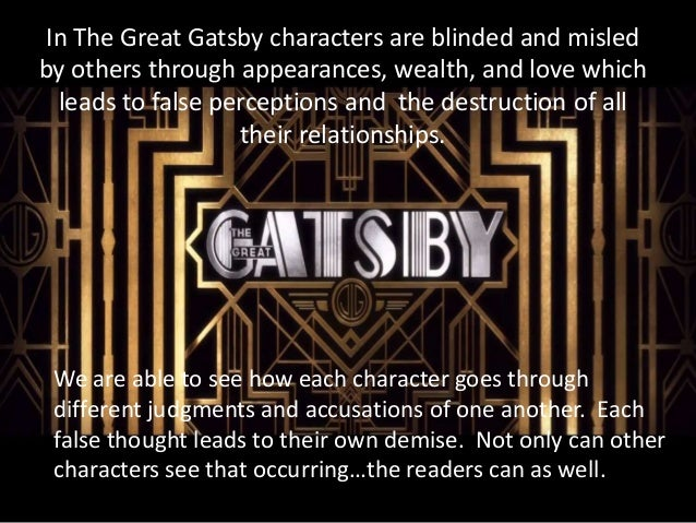 the different elements of life in the great gatsby a novel by f scott fitzgerald F scott fitzgerald's gatsby in his novel the great gatsby (1925) is betrayed by his own meretricious dream, nurtured by a meretricious society the hero of ernest hemingway's novel a farewell to arms (1929), disillusioned by war, makes a separate.