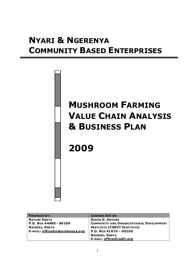 anyona s gichuru mushroom farming value chain analysis