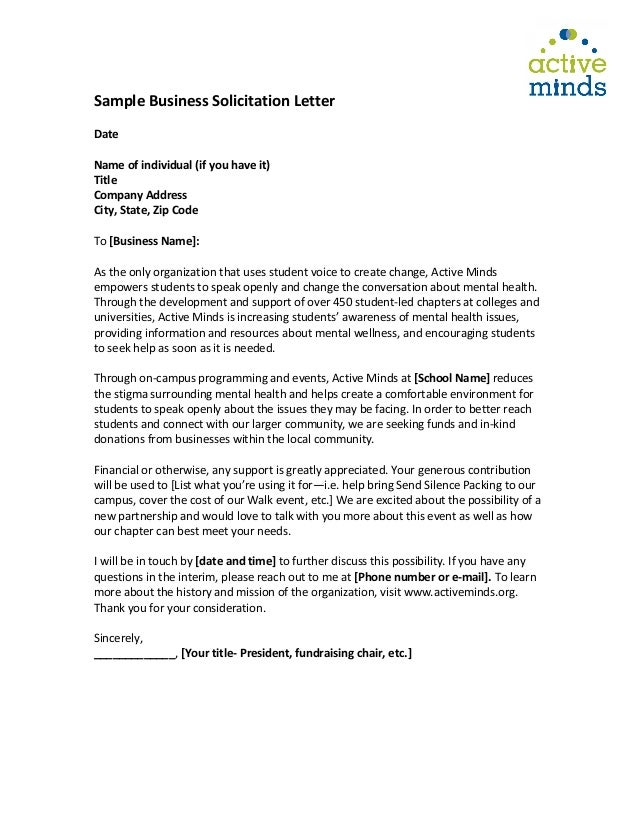 2 sample business solicitation letter