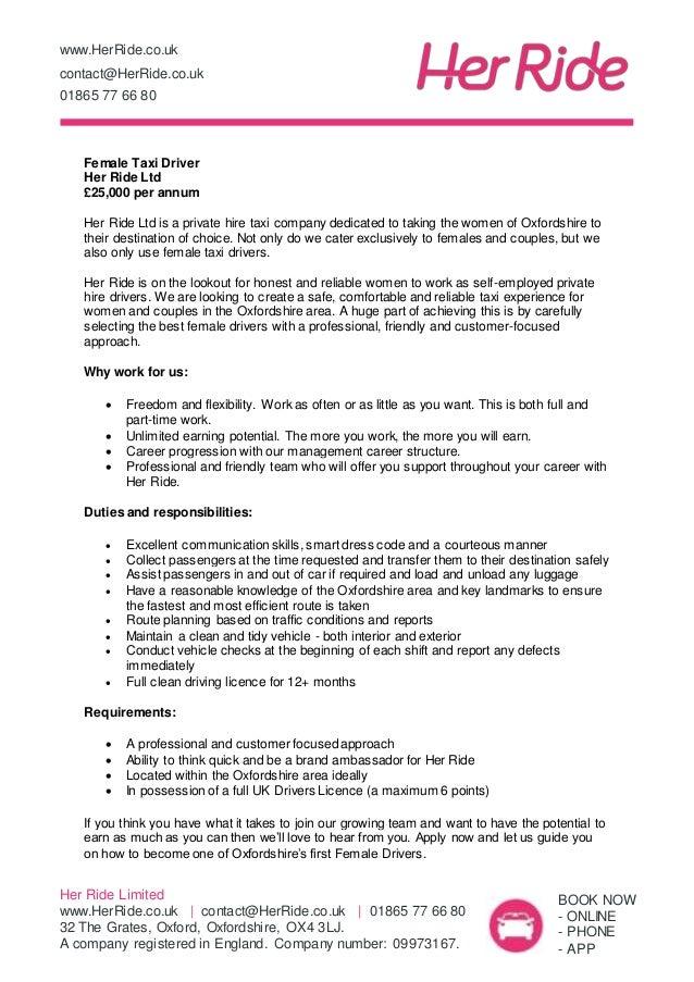 company driver job description