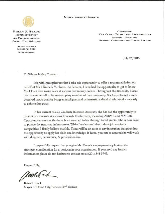General letter of recommendation for Hotel recommendation
