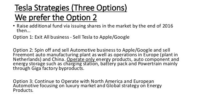 Tesla options strategy