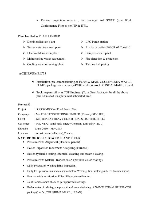 4 mechanical test engineer - Aoc Test Engineer Sample Resume