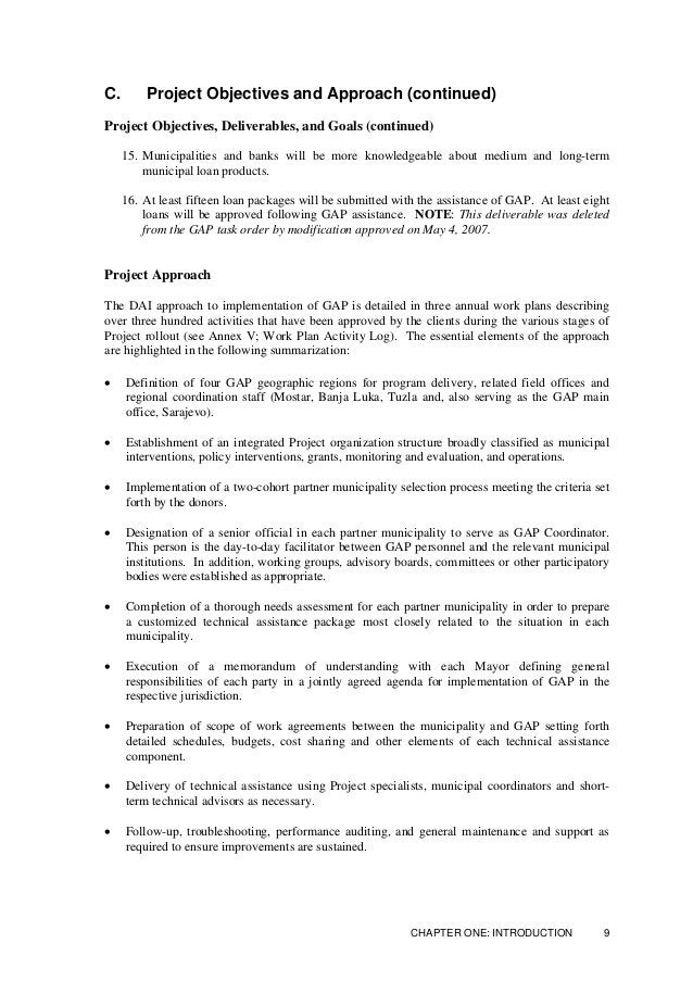 C. Project Objectives and Approach (continued) Project Management (continued) Project Team (Personnel) The following roste...