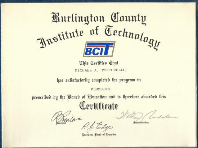 BCIT Plumbing Certificate