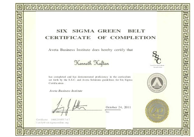 6 sigma notes green belt Six sigma certification with msi's full assortment of six sigma elearning courses we offer black belt, green belt, yellow belt, white belt and lean.