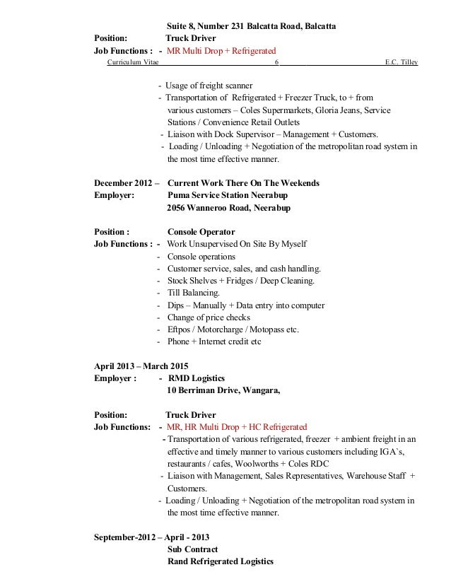 9 tilley c new resume updated 21 february 2016 use this one most