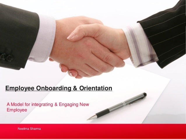employee orientation model