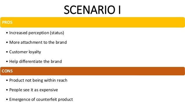 SCENARIO III PROS • Varieties for customer and boost sales • Maintain perception of the brand and customer loyalty • Creat...