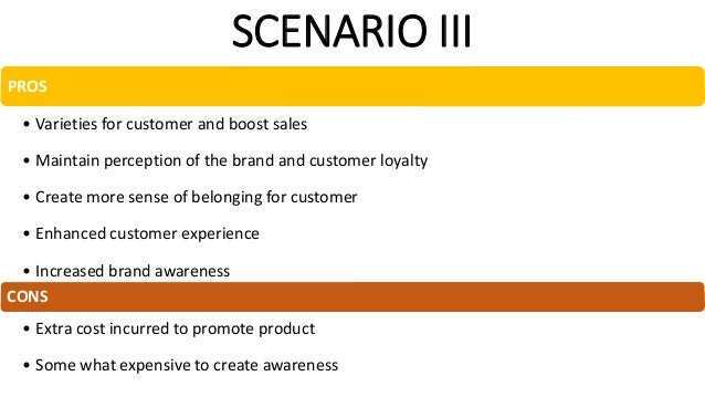 RECOMMENDED STRATEGY Scenario III • Prestige pricing (Value) • High quality • More product offering • Promotions