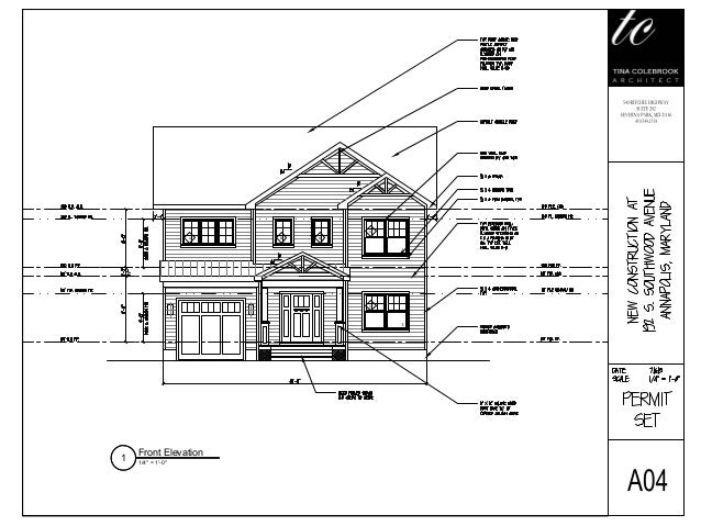 Sample Of Front Elevation : Architectural design sample tca