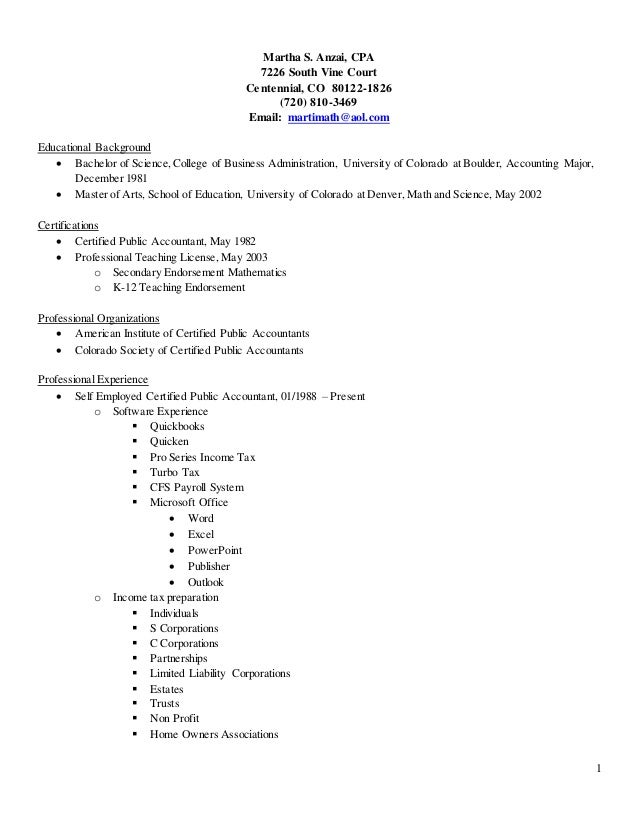 Martha CPA Resume 2015