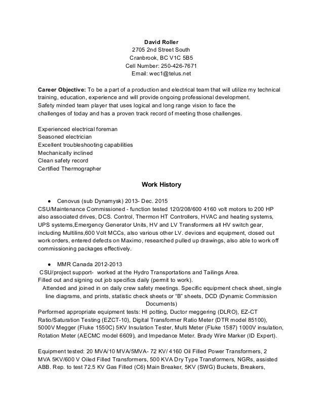 Daves 2017 updated resume