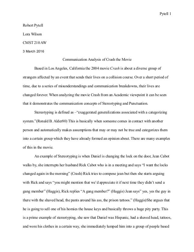 Crash movie essay