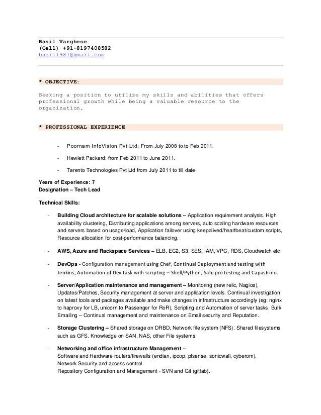 basil resume