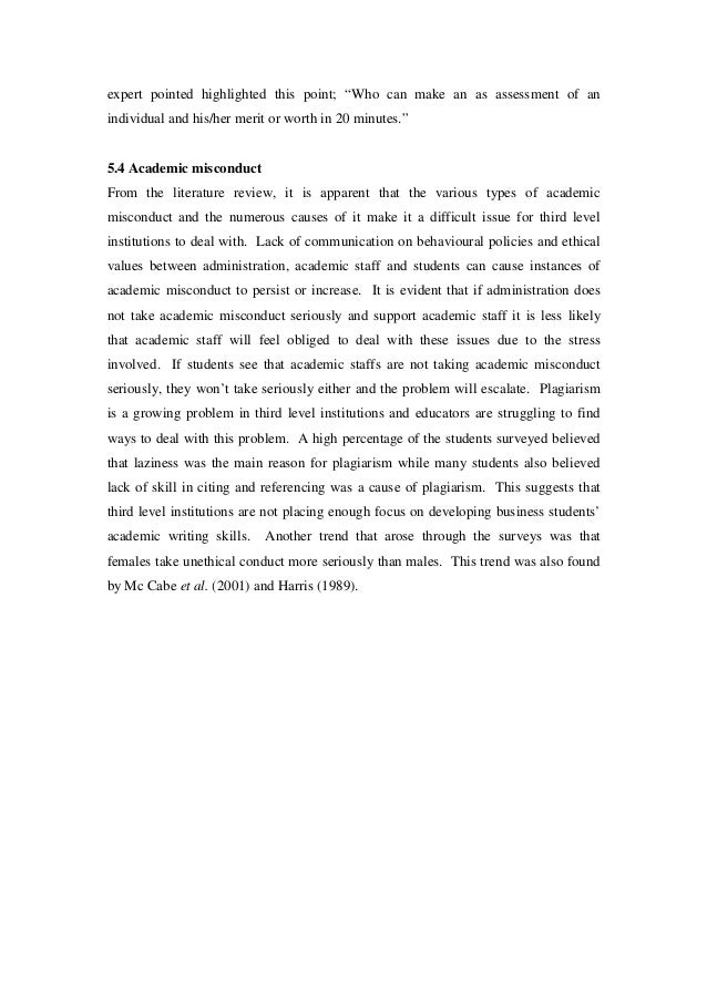 the types of academic misconduct Cheating, plagiarism, unauthorized collaboration, use of unauthorized electronic devices, self-plagiarism, fabrication or falsification of data, and other types of academic misconduct are treated as serious offenses that initiate a formal process of inquiry, one that may lead to disciplinary sanctions.