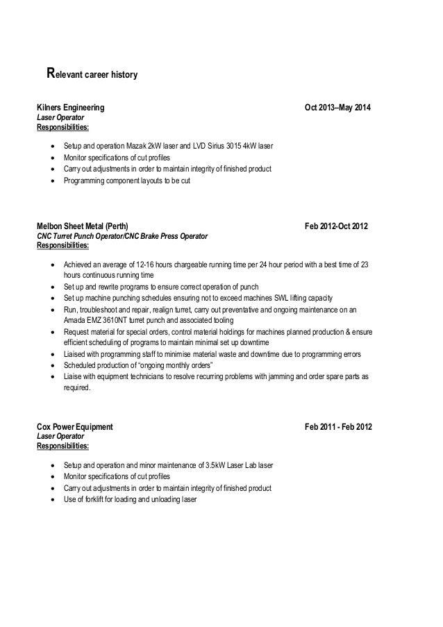 ricardo shi cv 2014 11 18 linkedin - Cnc Laser Operator Sample Resume