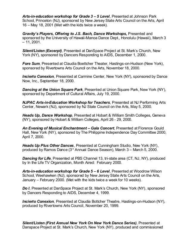 Chris ramos performing arts dance resumec 2 publicscrutiny Choice Image