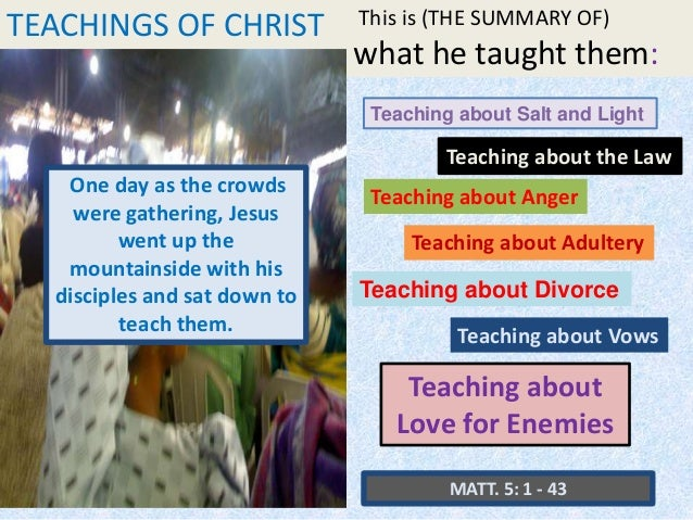 an analysis of teachings of jesus The fourth canonical gospel of john differs significantly from the synoptics in terms of christology, which is the field of study within christian theology which is concerned with the nature of jesus the christ, in particular, how the divine and human are related in his person.