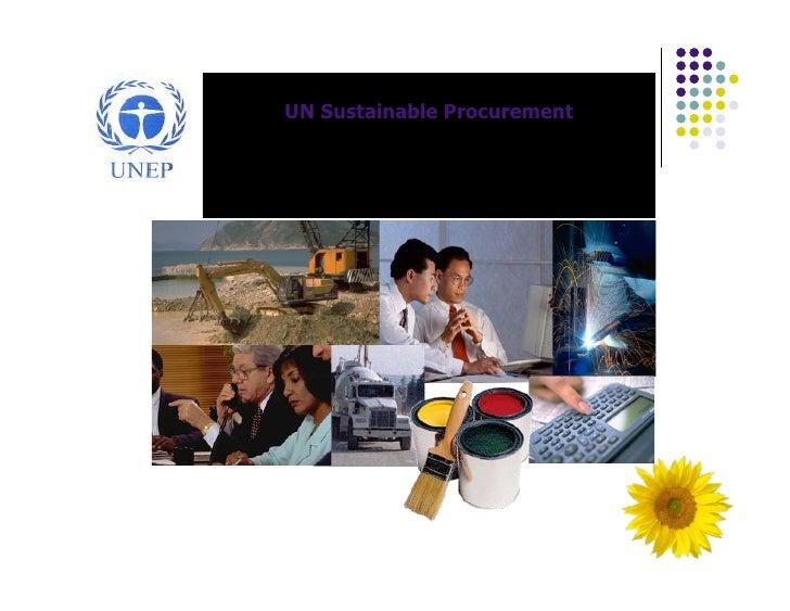 UN Sustainable Procurement