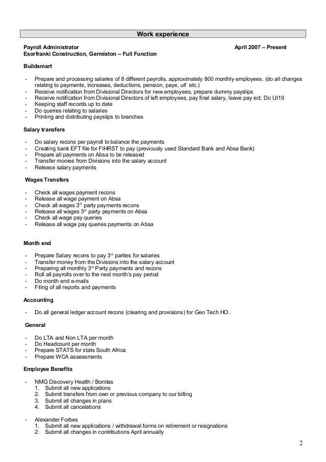 Curriculum Vitae AJM Fourie Slide 2