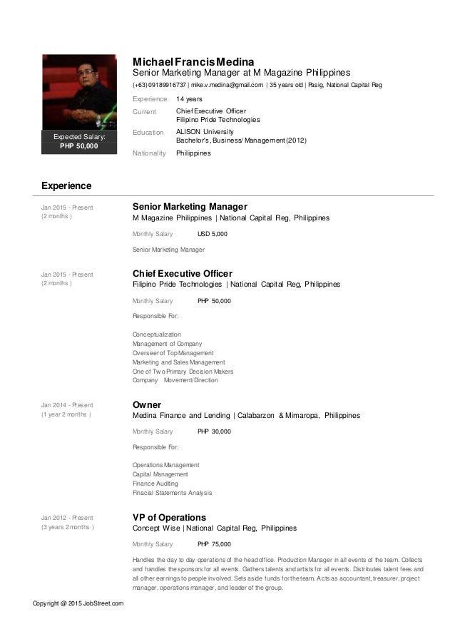 michael francis medina curriculum vitae or resume 03092015