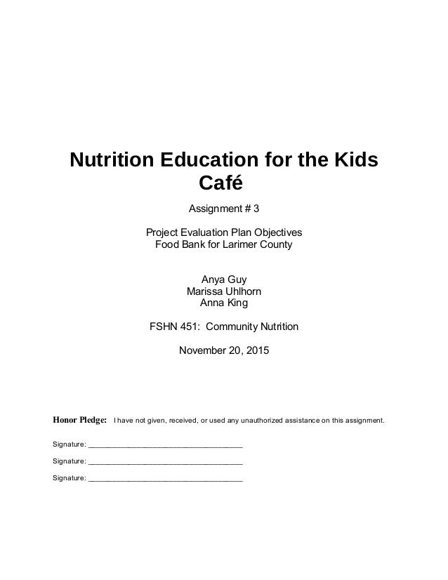 Community Nutrition Assignment 3