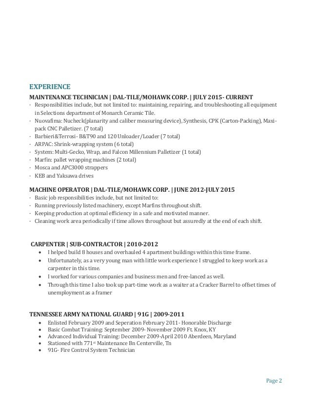 Palletizer operator resume