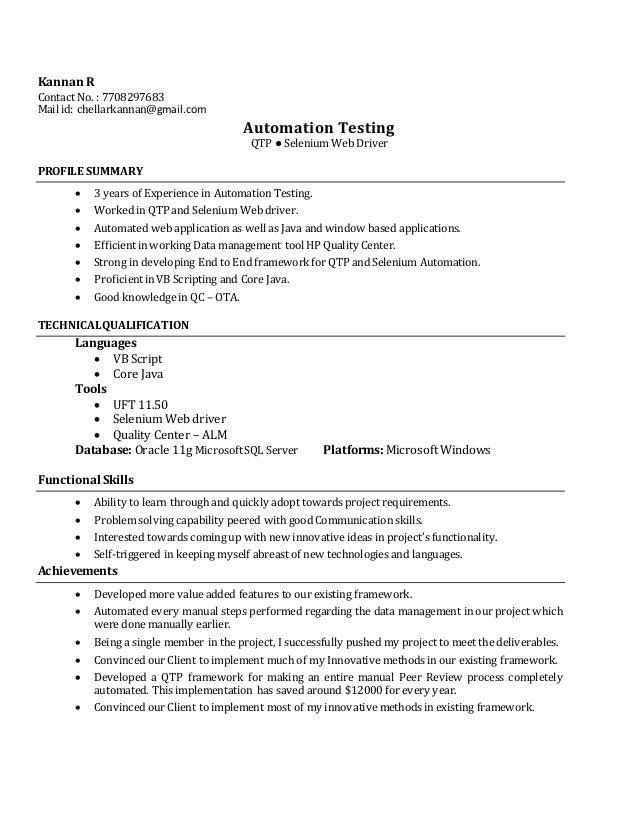 Kannan R - Automation Testing
