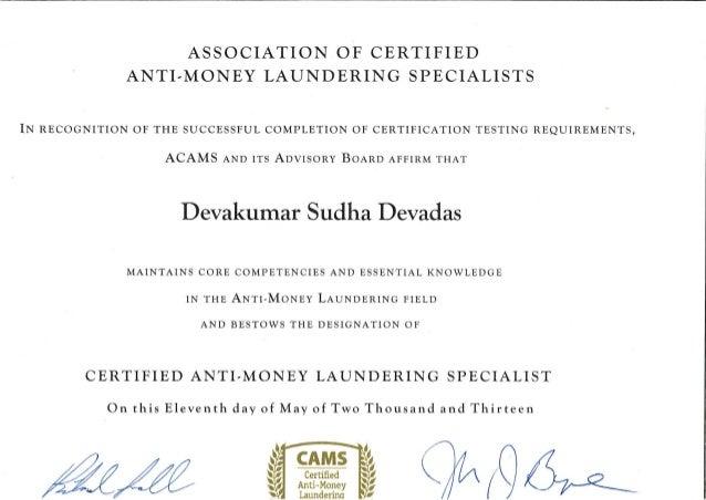acams certificate slideshare upcoming