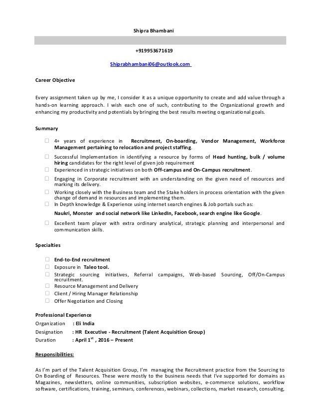 Shipra Bhambani _ New Resume
