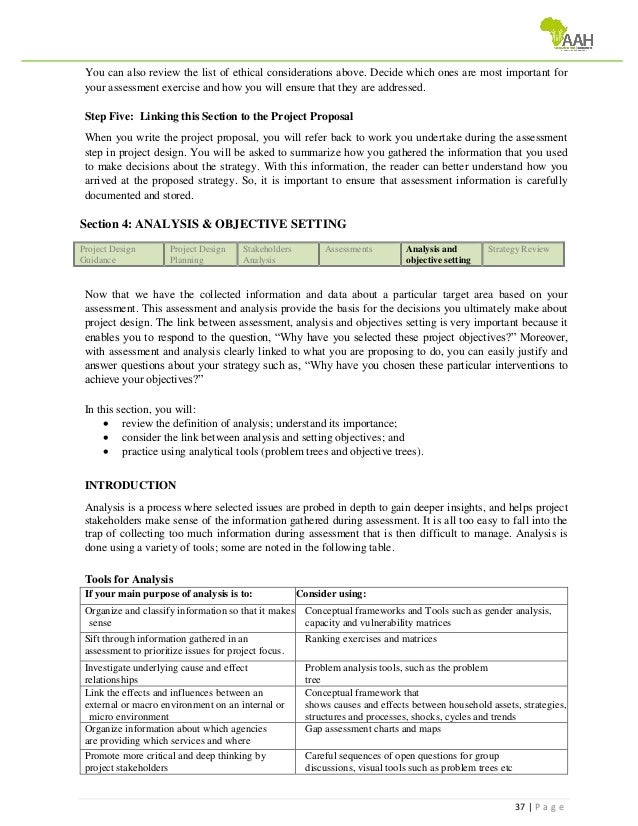 Project Design Proposal Guidance Training 4 Managers