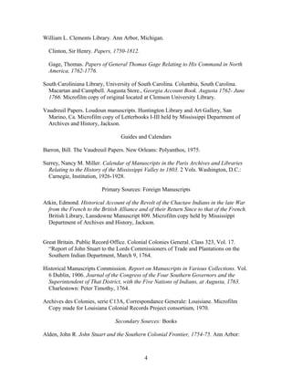 CREEK INDIAN BIBLIOGRAPHY