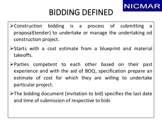 Tendering bidding award of contract final draft 23 malvernweather Images