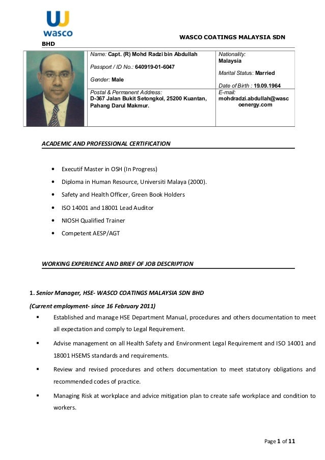 Fancy Health & Safety Manager Resume Embellishment - Administrative ...
