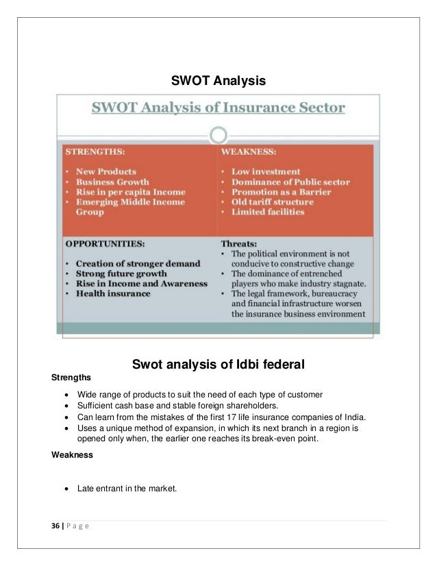 swot analysis of sbi life insurance in india The global life insurance industry - forecast 7133 swot analysis 714 nippon life insurance company 7141 company overview 7142 financial overview 759 sbi life insurance co ltd 760 the dai-ichi life insurance company, limited.