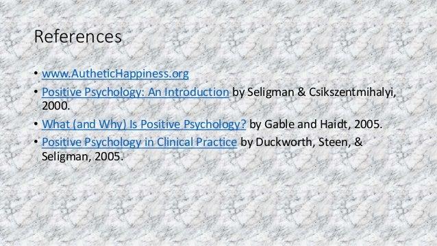 Positive Psychology ppt