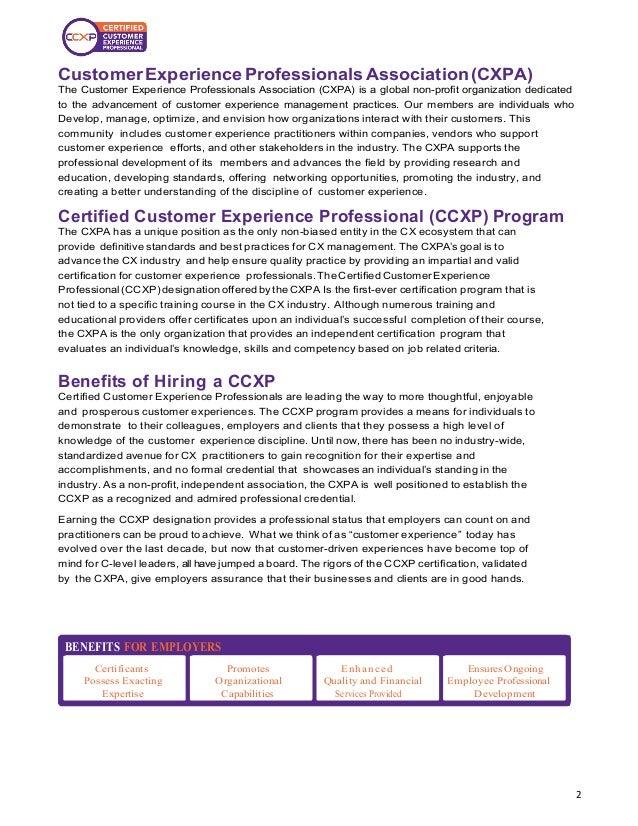 Significance of CCXP Certification Slide 2