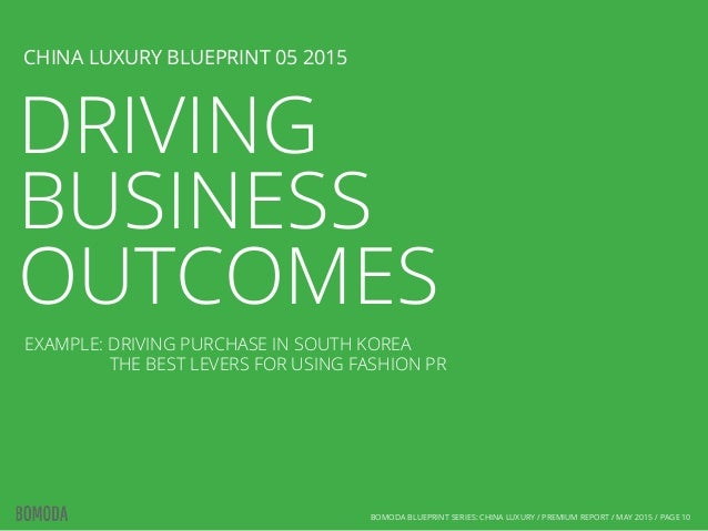 f323e1285d9d ... 10. DRIVING BUSINESS OUTCOMES CHINA LUXURY BLUEPRINT 05 2015 BOMODA ...