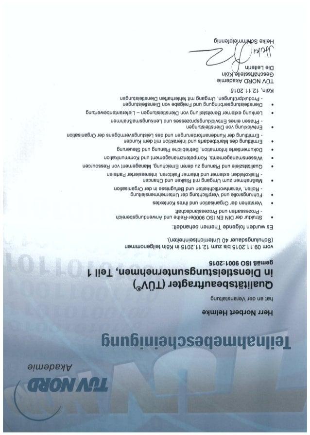 Qualitätsbeauftragter (QMB)