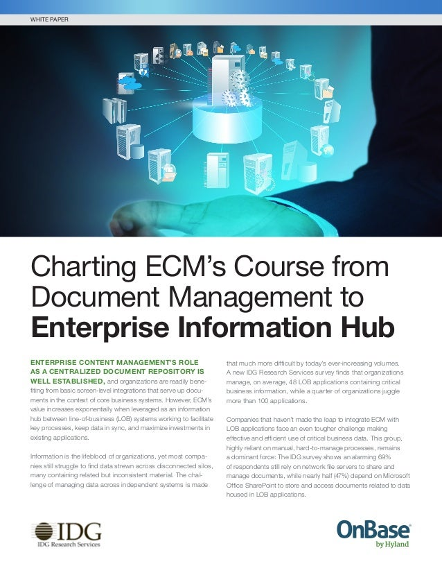 ENTERPRISE CONTENT MANAGEMENT'S ROLE AS A CENTRALIZED DOCUMENT REPOSITORY IS WELL ESTABLISHED, and organizations are readi...