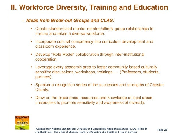 cultural competency policy and practice recommendations