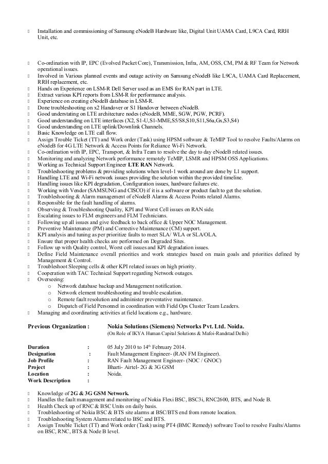 Noc Analyst Sample Resume] Gallery Of Noc Analyst Cover Letter Noc .
