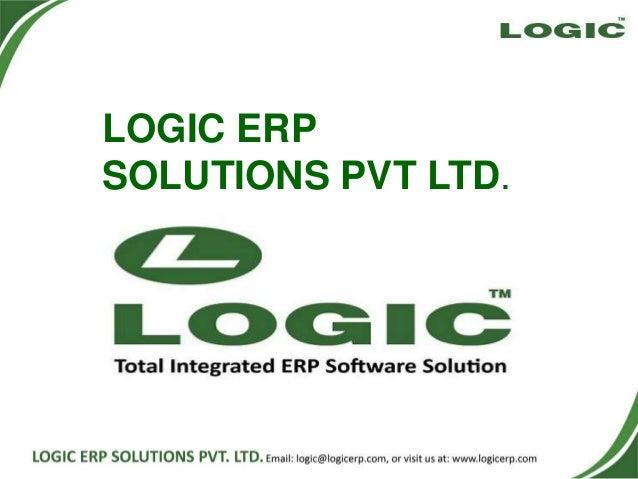 LOGIC ERP SOLUTIONS PVT LTD.